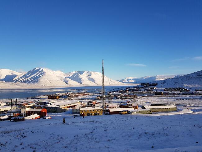 Longyearbyen fra Skjæringa
