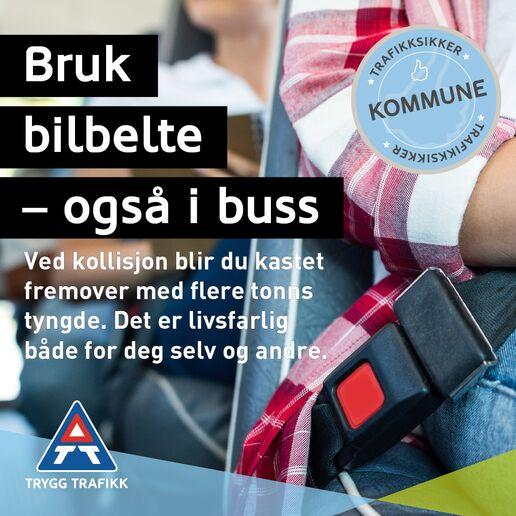 Bruk Bilbelte i både bil og buss