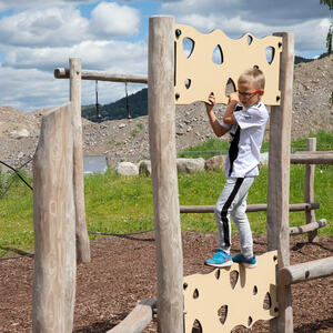 Lekeplassen i Mjøsparken er populær