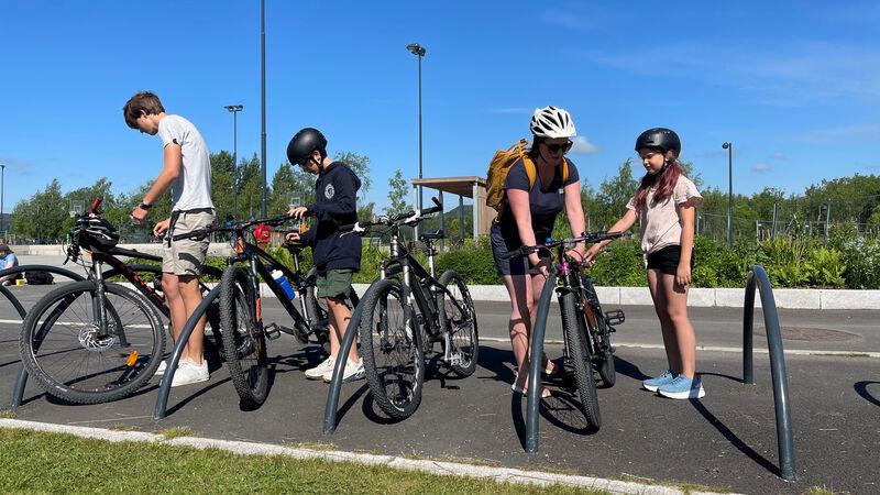 Sykkelparkering Mjøsparken