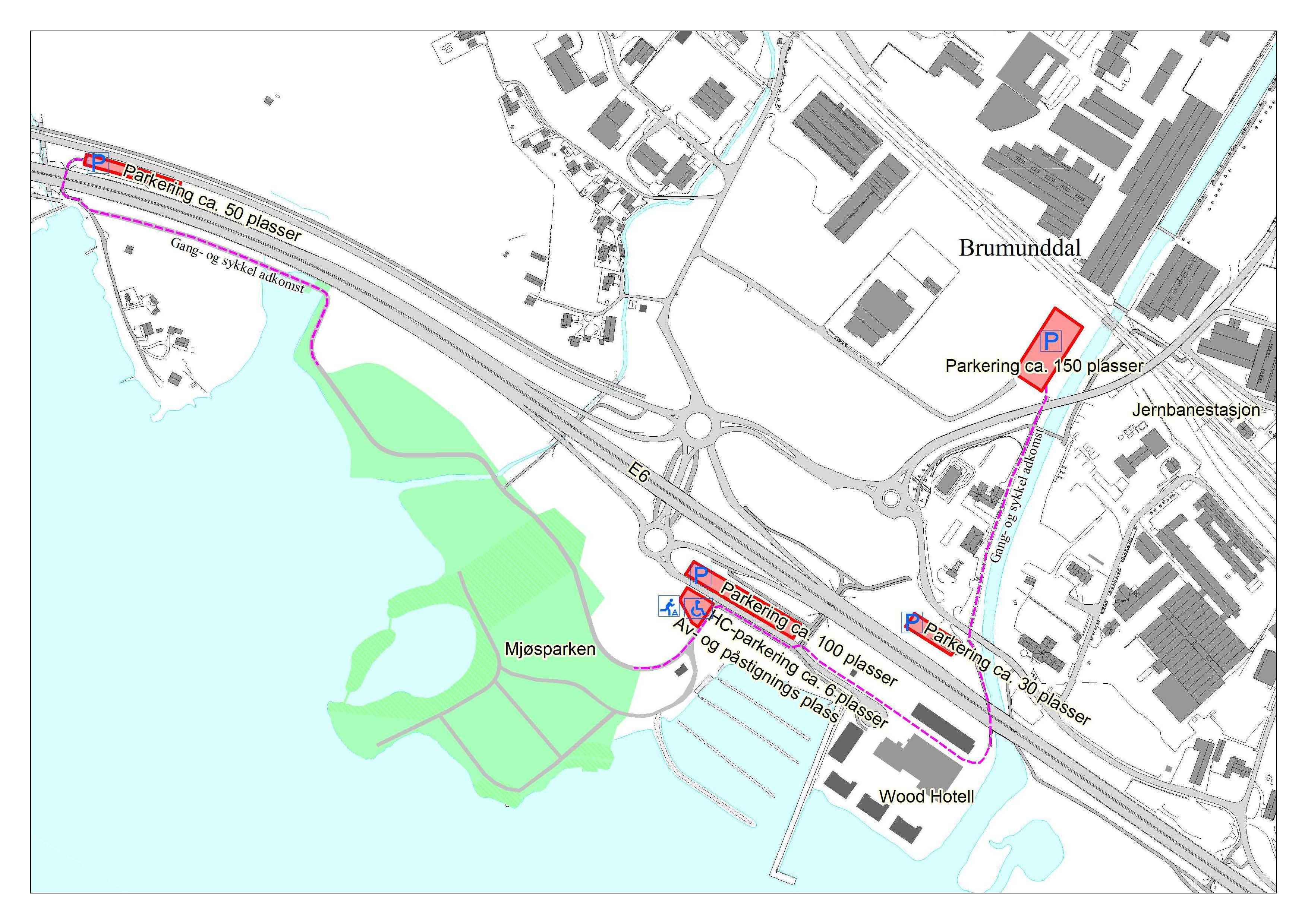 Parkering Mjøsparken 2021 Grunnkart