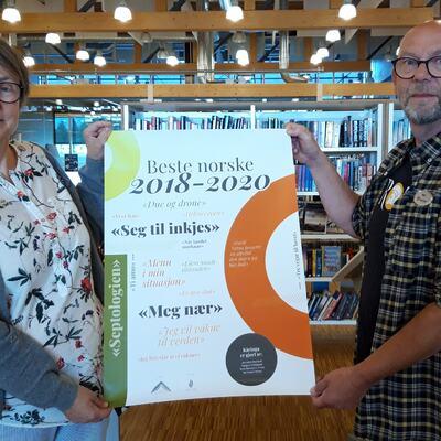 Siv Ellefsrud og Ketil Arntzen reklamerer for Beste norske 2018-2020 som starter andre uka i september.