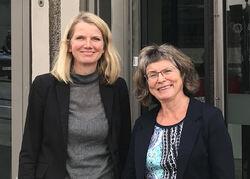 Husbanken og KS tilbyr nå alle kommuner å teste Kobo. (Fra v.) Beate Lofseik og Anne Mette Dørum. Foto: Husbanken