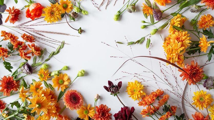Blomster skaper<br/> høstfølelse!