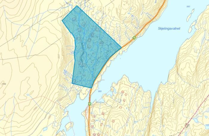 Planavgrensing Skjelingen nord