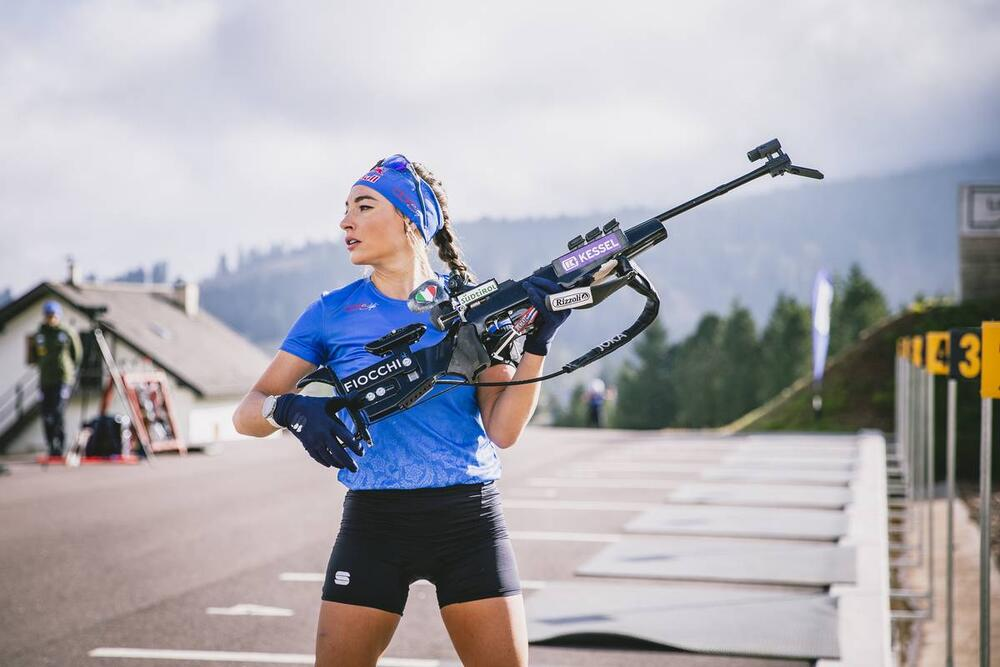 01.10.2021, Lavaze, Italy (ITA):Dorothea Wierer (ITA) - Biathlon training, Lavaze (ITA). www.nordicfocus.com. © Modica/NordicFocus. Every downloaded picture is fee-liable.