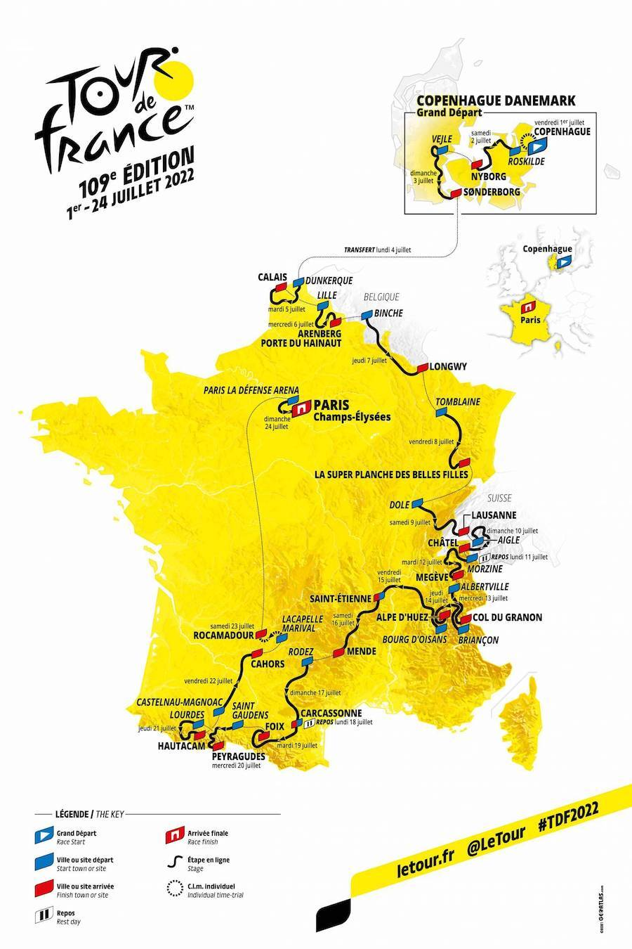 Uncover the map of the Tour de France 2022 – Sports activities data – Ski