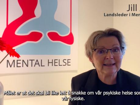 Illustrasjonsbilde: For 19. året på rad står Mental Helse i spissen for Verdensdagen for psykisk helse. Vi må snakke mer om psykisk helse og vi må satse mer på psykisk helse sier landsleder Jill Arild i denne videoen fra 10.10.21.