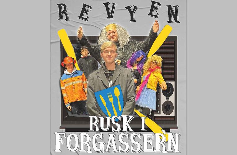 Revyen Rusk i forgasseren_forside