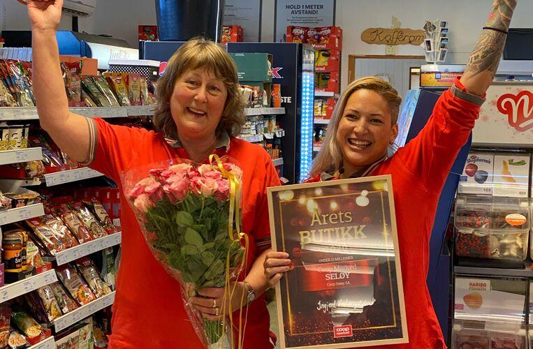 Coop Seløy årets butikk 2020_Leilani og Edith