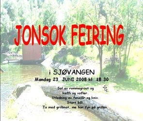 Jonsokfeiring plakat 2008