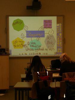 Son skole whiteboard