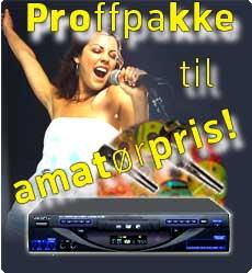 Proff karaoke pakke amatørpris